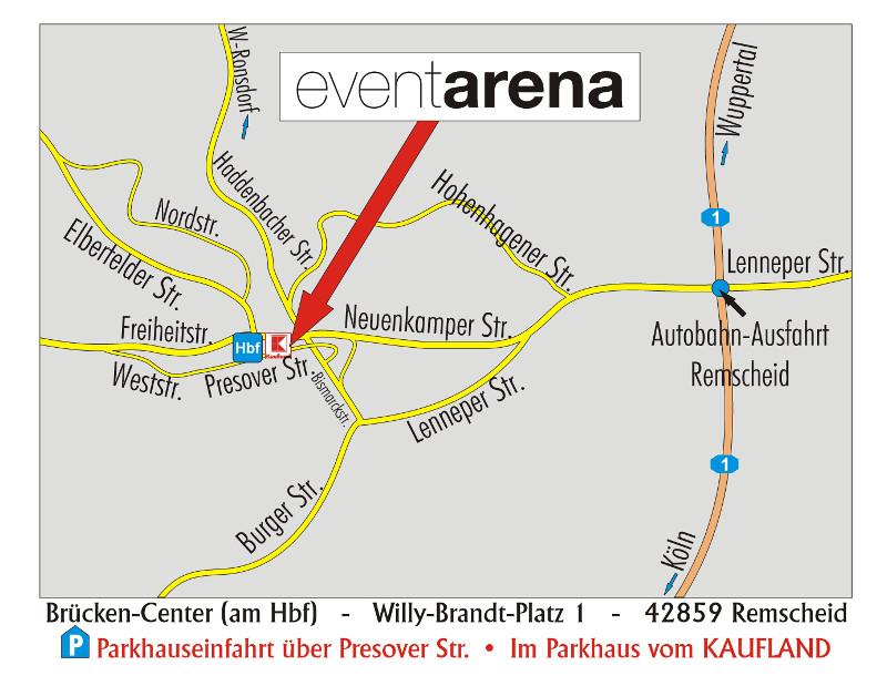 Anfahrtskizze Event Arena