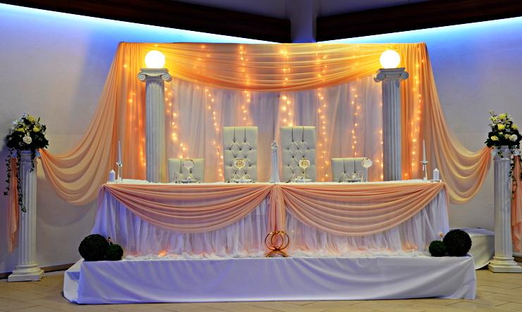 Ehrenplatz des Brautpaars