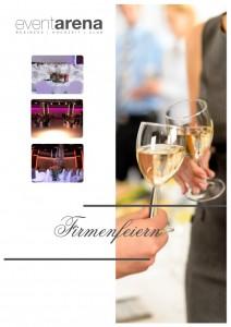 Broschüre Firmenfeiern in der Event Arena