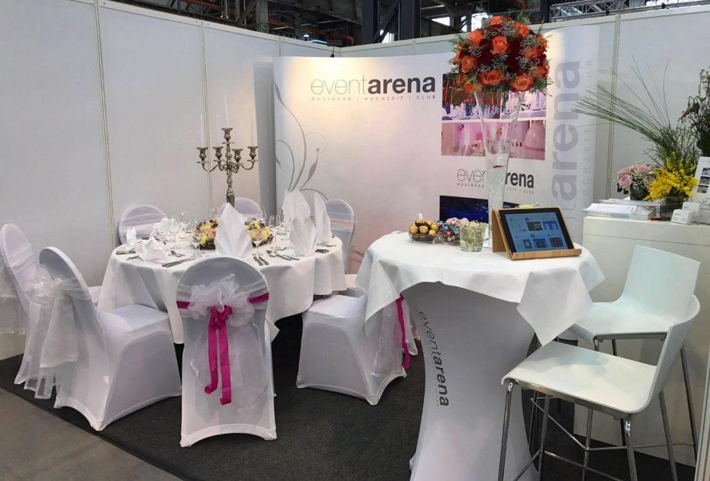 Ansicht des Event Arena-Ausstellungstands auf der Hochzeitsmesse Düsseldorf